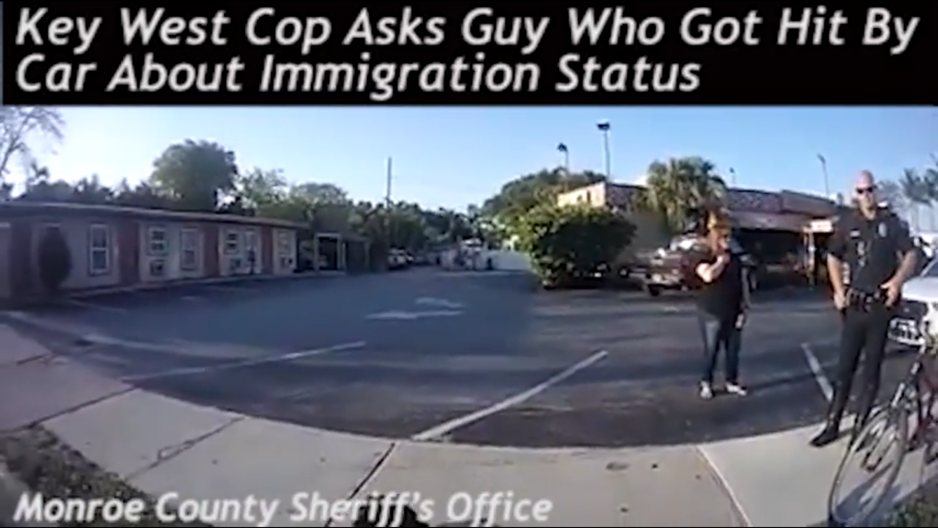 Guy Gets Hit By A Cop Car